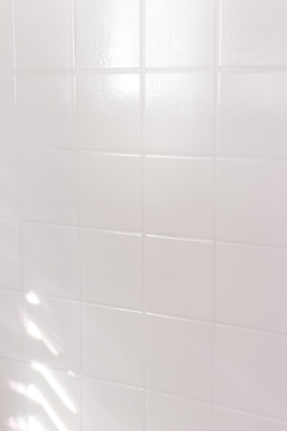 Painted wall tile squares