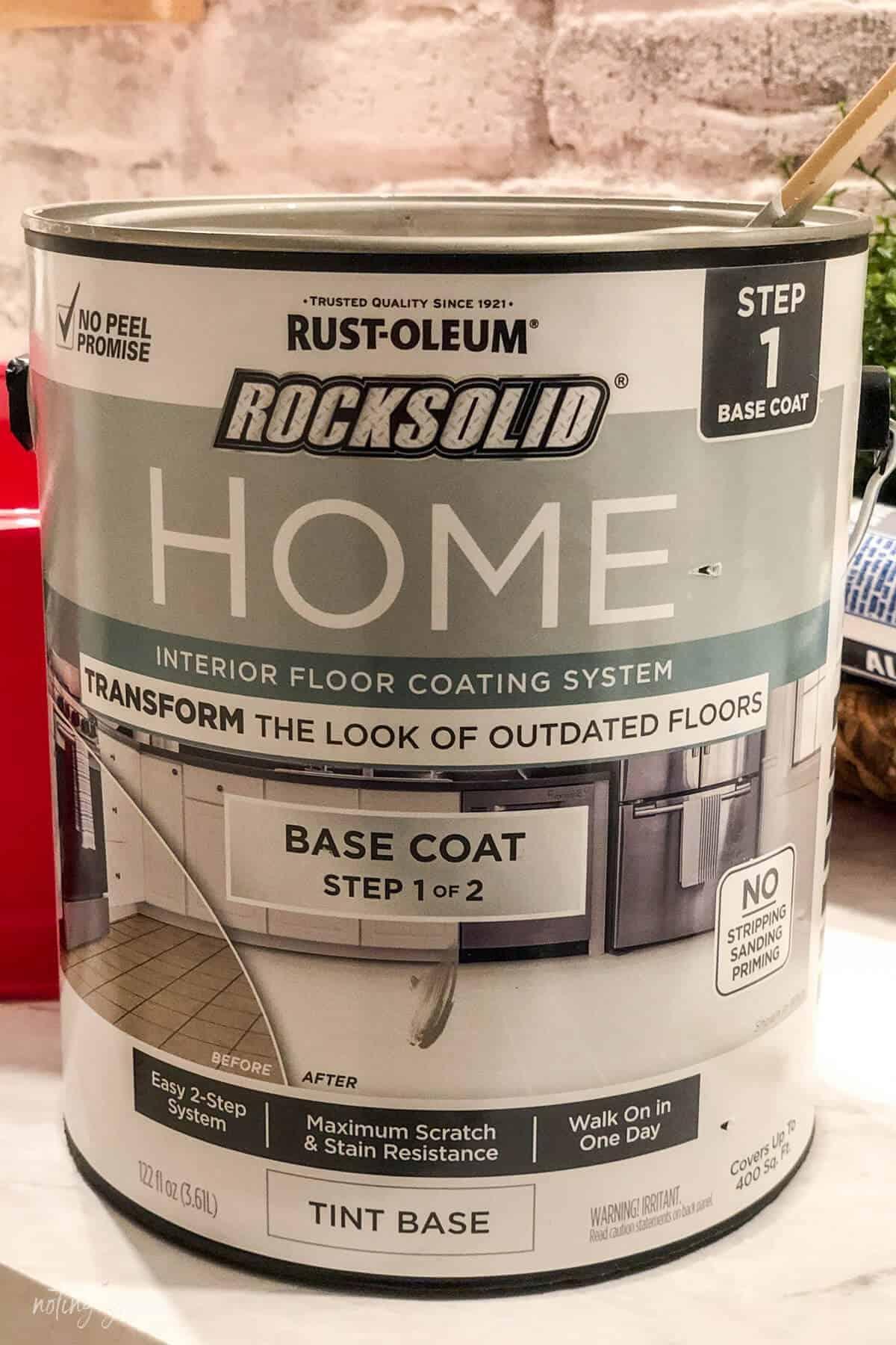 Rust-Oleum HOME Floor Coating can