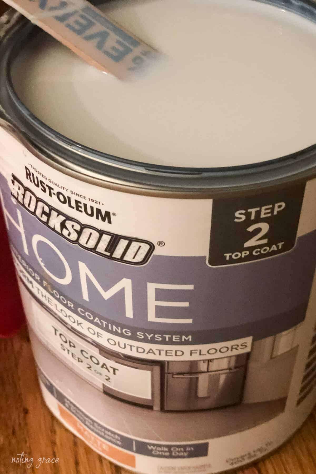 Rust-Oleum HOME Floor Coating Top coat