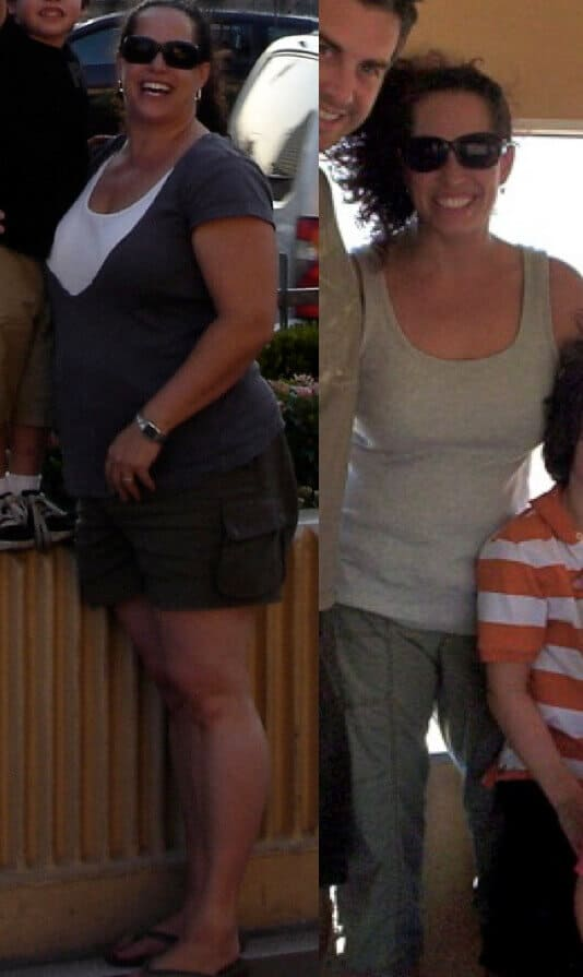 before and after weight loss