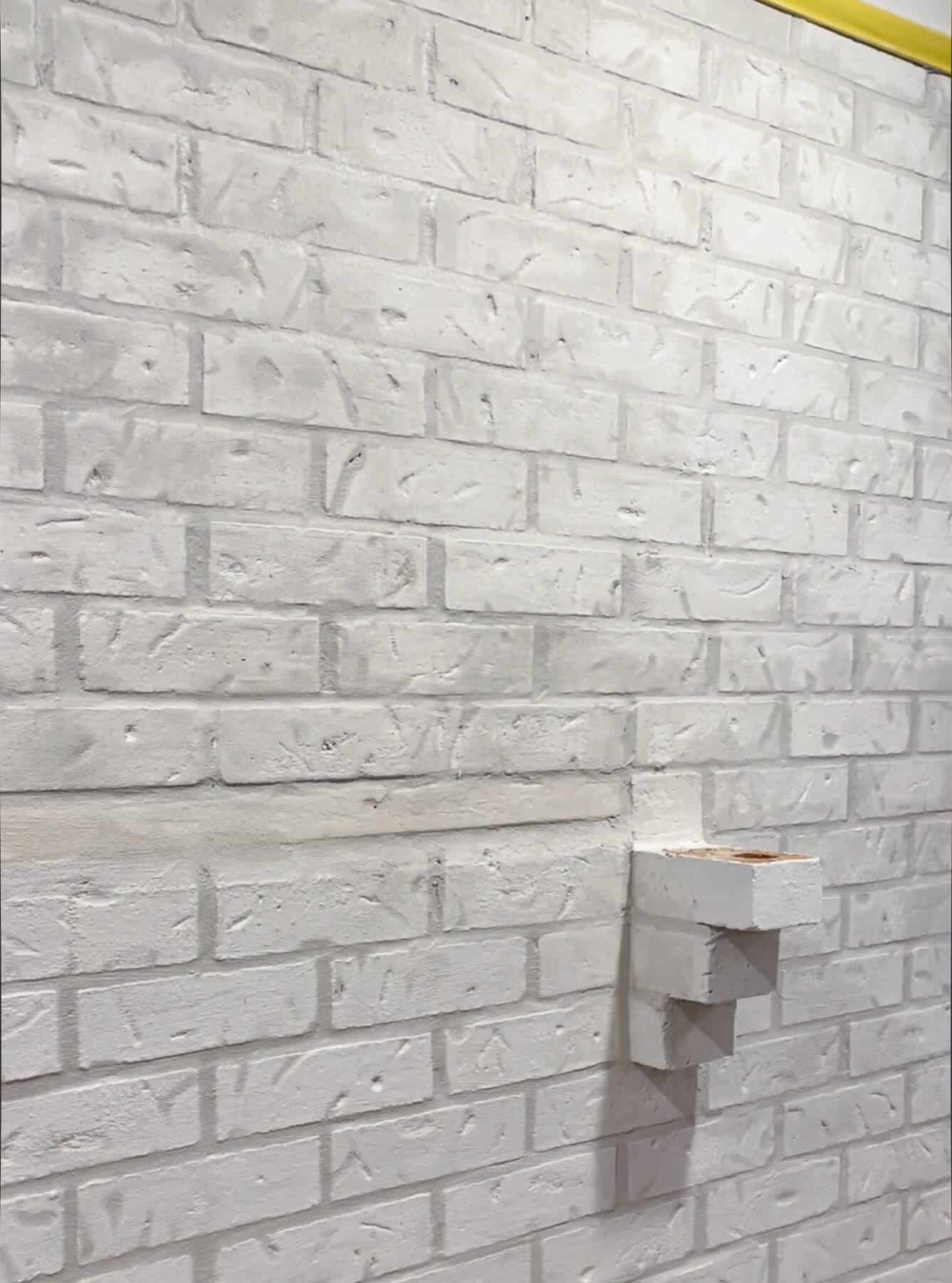 brick with mortar joints filled
