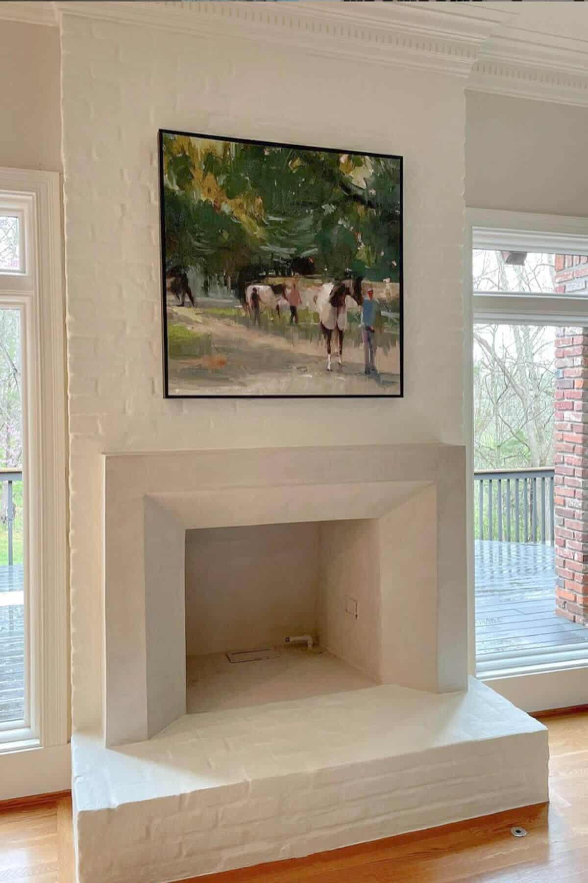lime slurry fireplace inspiration