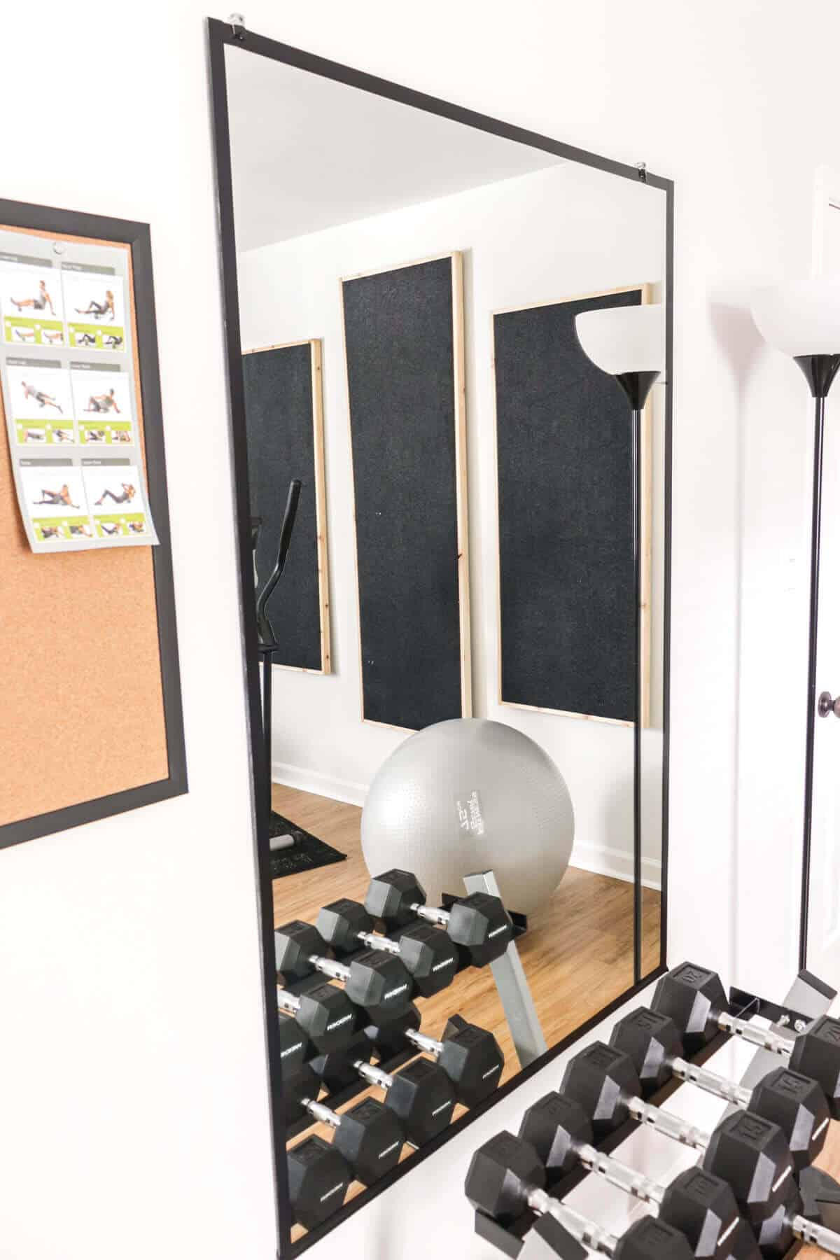 diy home gym mirror