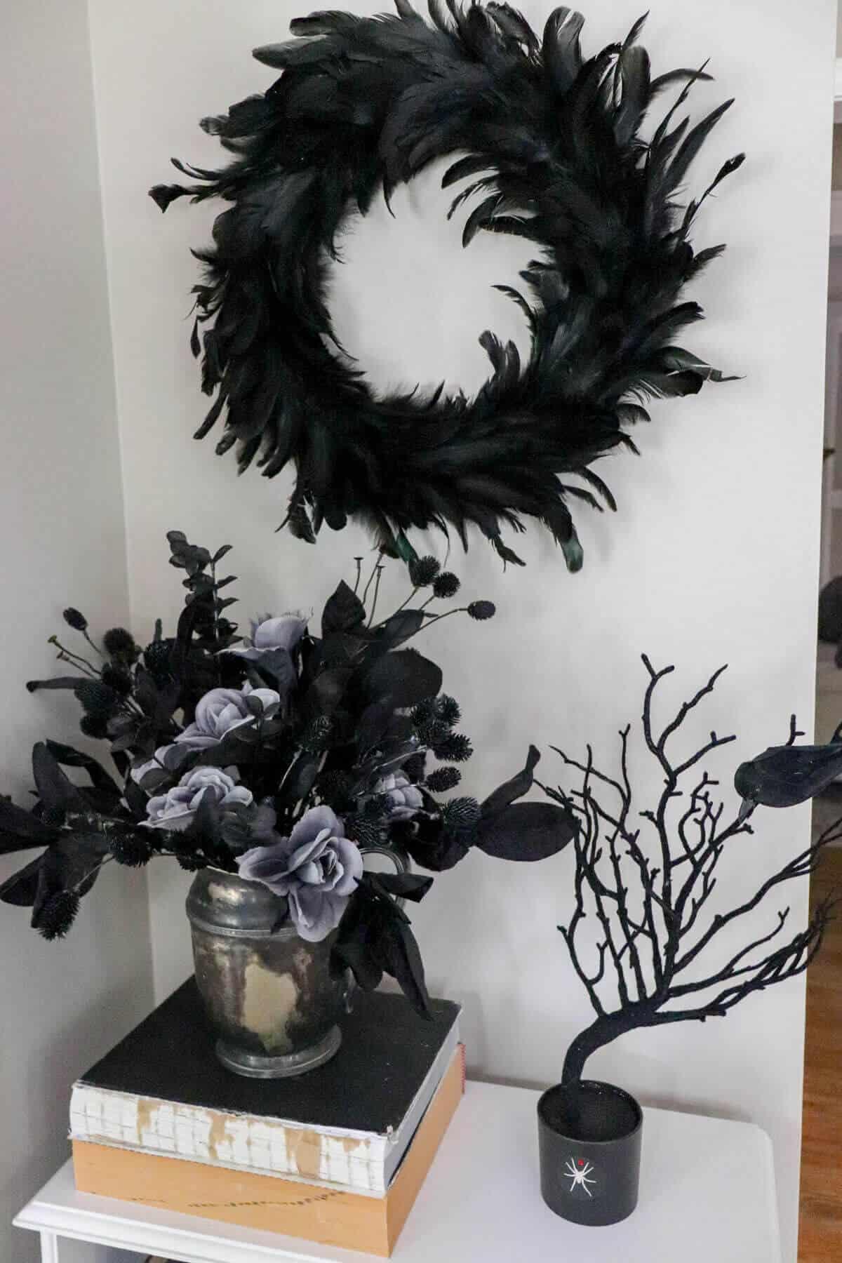 black halloween decor