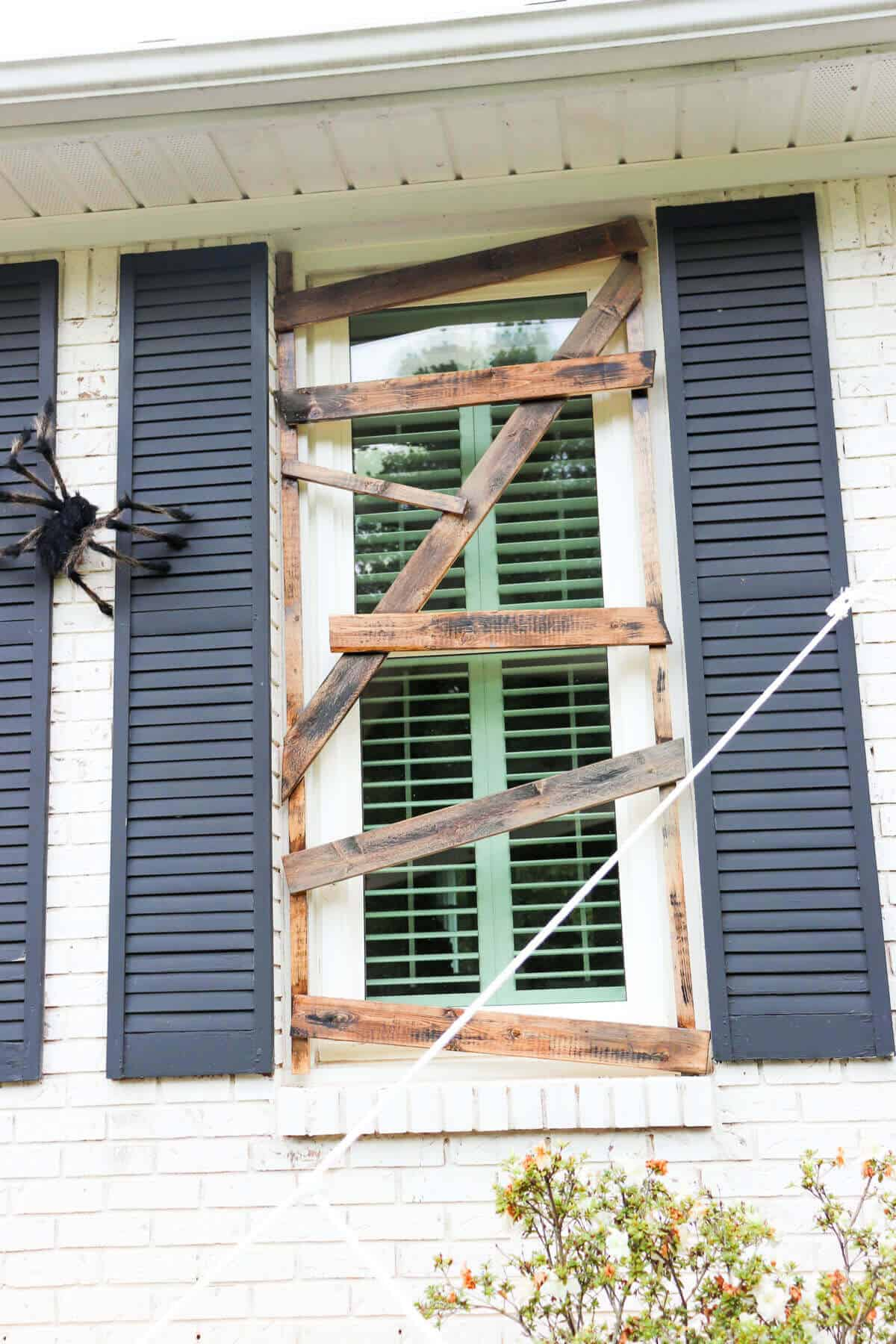 boarded up windows for halloween decorations